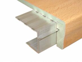 aluminiumprofil u f r holzstufen treppenrenovierung treppensanierung. Black Bedroom Furniture Sets. Home Design Ideas