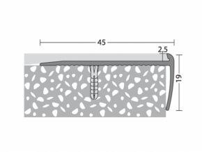 Treppenkantenprofil 45 x 19 mm - Nr. 196