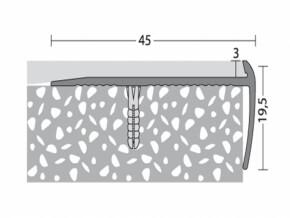 Treppenkantenprofil 45 x 19,5 mm - Nr. 197