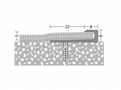 Treppenkantenprofil 30 x 5 mm - Nr. 143