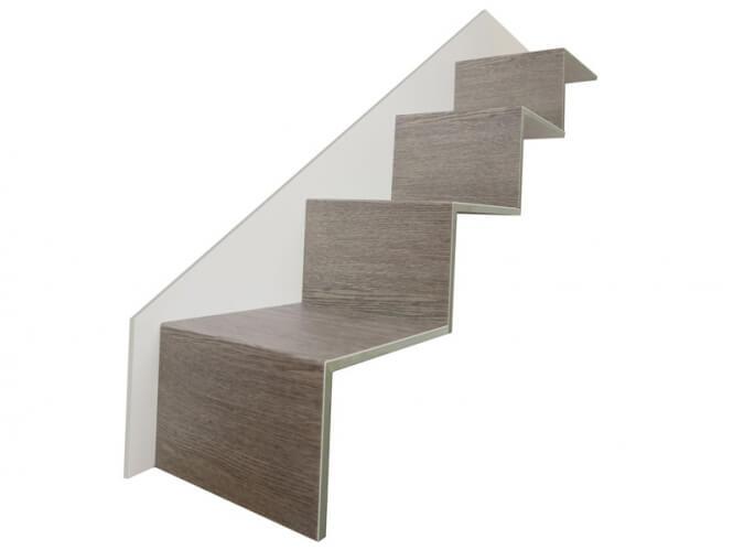 faltstufe grau mit stellstufe tresabo treppenrenovierung. Black Bedroom Furniture Sets. Home Design Ideas