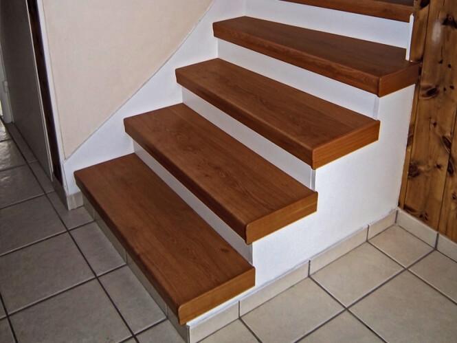 trittstufenkappe f r blockstufen treppenrenovierung. Black Bedroom Furniture Sets. Home Design Ideas