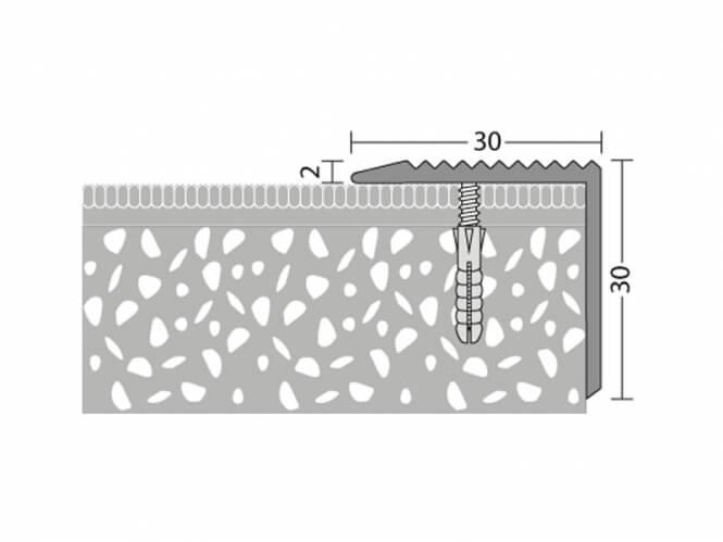 Winkelprofil Messing 30 x 30 mm - Nr.181