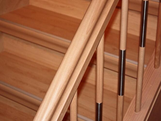 omegahandlauf buche roh 0 50 4 40m l nge 45x80mm messing halter im set. Black Bedroom Furniture Sets. Home Design Ideas