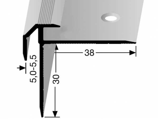 treppenkantenprofil deko nr 835 k berit k ap835 treppenrenovierung treppensanierung. Black Bedroom Furniture Sets. Home Design Ideas
