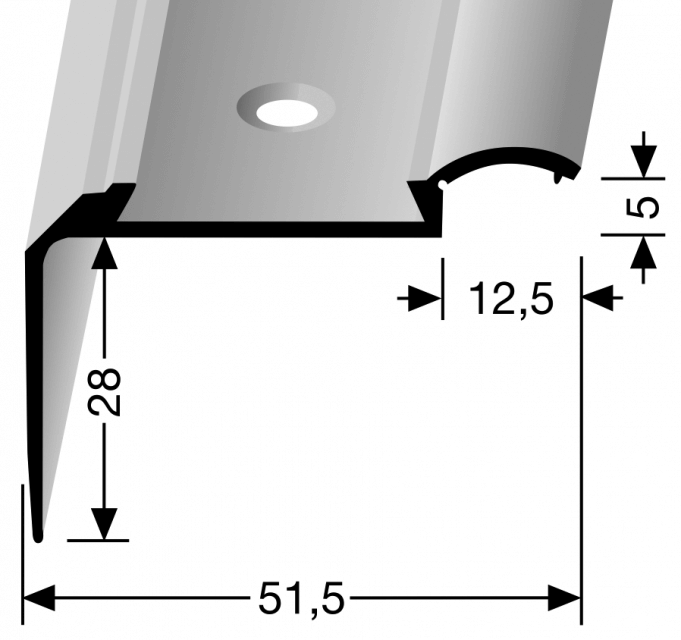 Treppenkantenprofil KOMBI Nr. 703
