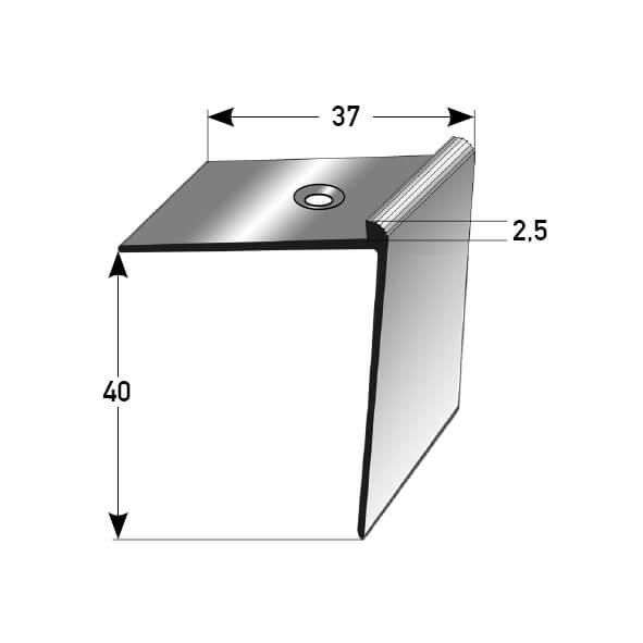 Treppenkantenprofil Nr. 385 (Aluminium)
