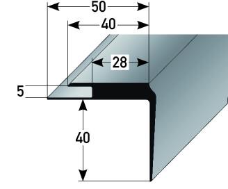 treppenkantenprofil kunststoff nr 365 au 365tkp tresabo treppenrenovierung. Black Bedroom Furniture Sets. Home Design Ideas