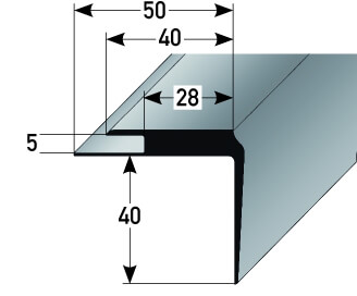 treppenkantenprofil kunststoff nr 365 au 365tkp treppenrenovierung treppensanierung. Black Bedroom Furniture Sets. Home Design Ideas