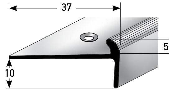 Treppenkantenprofil Nr. 334 (Aluminium)
