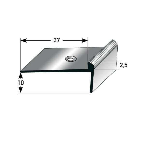 Treppenkantenprofil Nr. 383 (Aluminium)