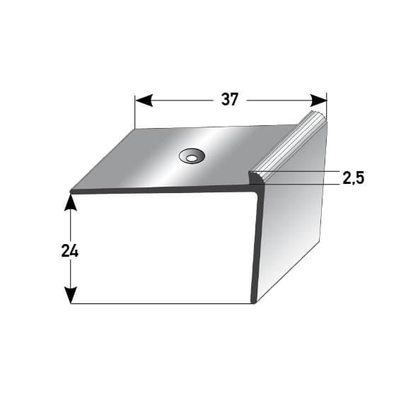 Treppenkantenprofil Nr. 384 (Aluminium)