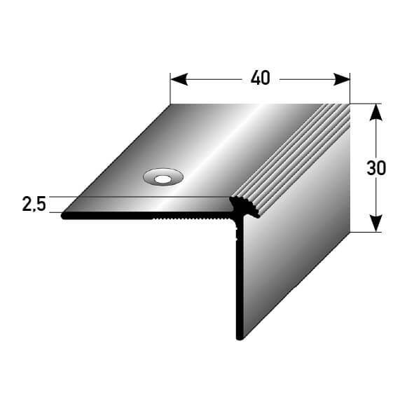 Treppenkantenprofil Nr. 386 (Aluminium)