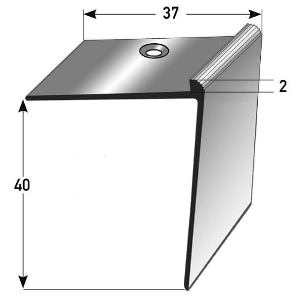 Treppenkantenprofil Nr. 266 (Aluminium)