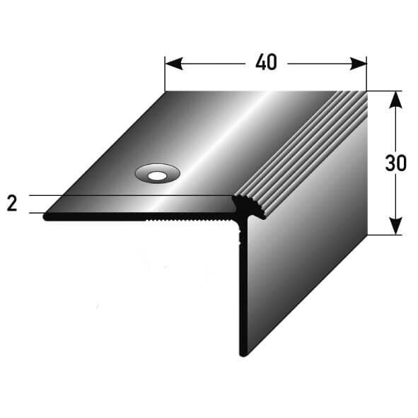 Treppenkantenprofil Nr. 264 (Aluminium)