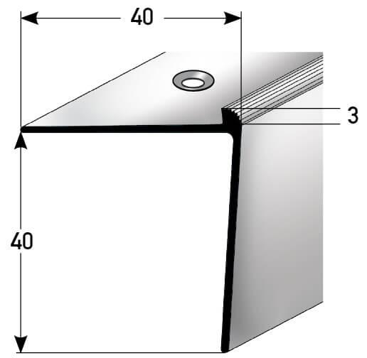 Treppenkantenprofil Nr. 341 (Aluminium)