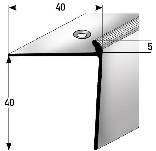 Treppenkantenprofil Nr. 340 (Aluminium)