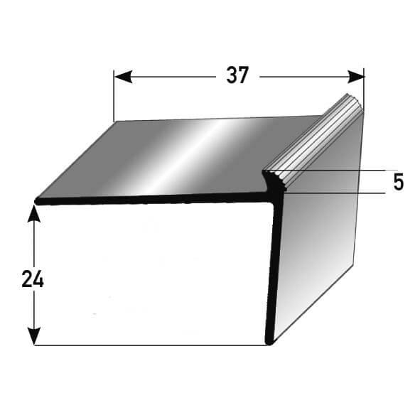 Treppenkantenprofil Nr. 267 (Aluminium)