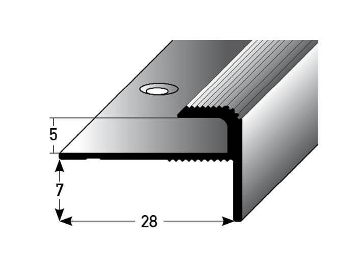 Treppenstufenprofil Nr. 017 (Aluminium)