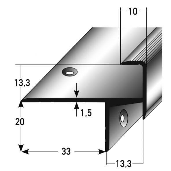 Treppenkantenprofil Nr. 260 (Aluminium)