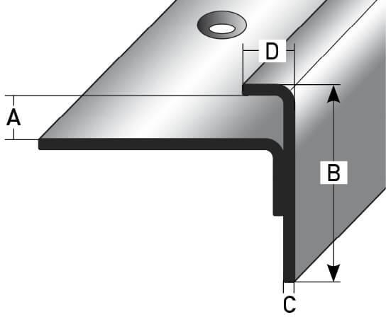 schienenkante edelstahl nr 354 au 354tkp treppenrenovierung treppensanierung. Black Bedroom Furniture Sets. Home Design Ideas