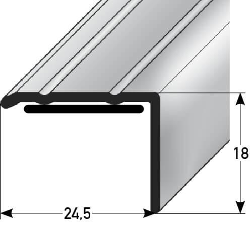 Treppenstufenprofil Nr. 088SK (Aluminium)