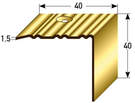 Treppenprofil Nr. 271 (Messing)