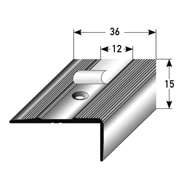treppenkantenprofil aluminium nr 092 au 092tkp treppenrenovierung treppensanierung. Black Bedroom Furniture Sets. Home Design Ideas