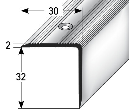 Treppenprofil Nr. 343 (Aluminium)