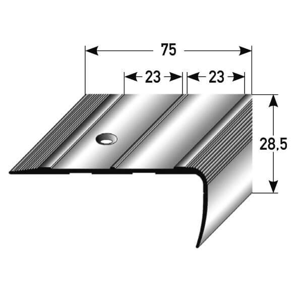 treppenkantenprofil aluminium nr 080 au 080tkp tresabo treppenrenovierung. Black Bedroom Furniture Sets. Home Design Ideas