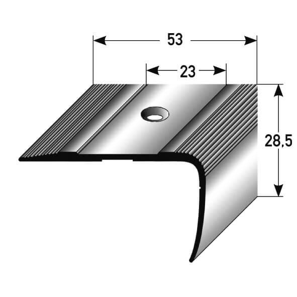 treppenkantenprofil aluminium nr 086 au 086tkp tresabo treppenrenovierung. Black Bedroom Furniture Sets. Home Design Ideas