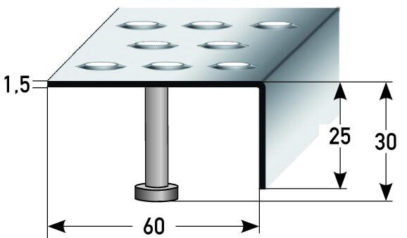 Treppenkante Nr. 330 (Edelstahl)