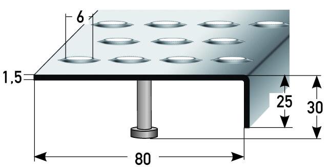 Treppenkante Nr. 331 (Edelstahl)