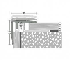 Treppenkantenprofil 38 x 32 mm - Nr.422