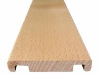 Abdeckleiste Massivholz für offene Treppen