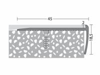 Treppenkantenprofil 45 x 18,5 mm - Nr. 195