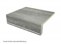 Laminatstufe Eiche Vintage Grau mit Stellstufe Hafa
