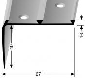 Treppenkantenprofil KOMBI Nr. 704