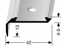 Treppenkantenprofil Messing KOMBI Nr. 701
