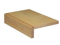 Massivholz Treppenstufe Ahorn Doppelstufe inkl. 2 Stellstufen - 1300 mm