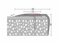 Treppenkantenprofil DUO 49 x 26,5 mm - Nr. 175