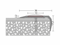 Treppenkantenprofil DUO 36 x 15 mm - Nr. 174