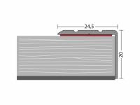 Winkelprofil, versenkt gebohrt 24,5 x 20 mm - Nr. 162