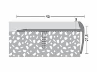 Treppenkantenprofil 45 x 21,5 mm - Nr.198