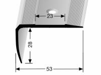 Treppenkantenprofil Messing RENO Nr. 712
