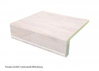 Laminatstufe Nussbaum Weiß mit Stellstufe Hafa