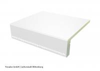 Laminatstufe Weiß mit Stellstufe Hafa