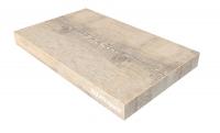 Vinyl - Blockstufe auf Maß - Grau Astig im Landhausstil